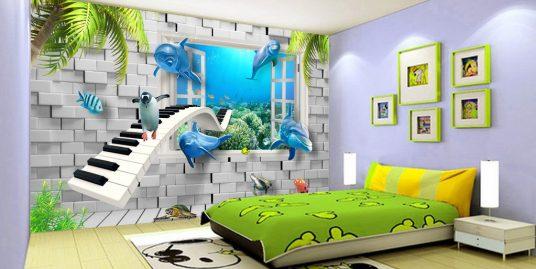 Tranh dán tường 3D